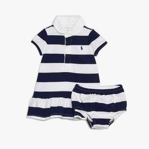 Polo Ralph Lauren Baby Girl Rugby Stripe Dress